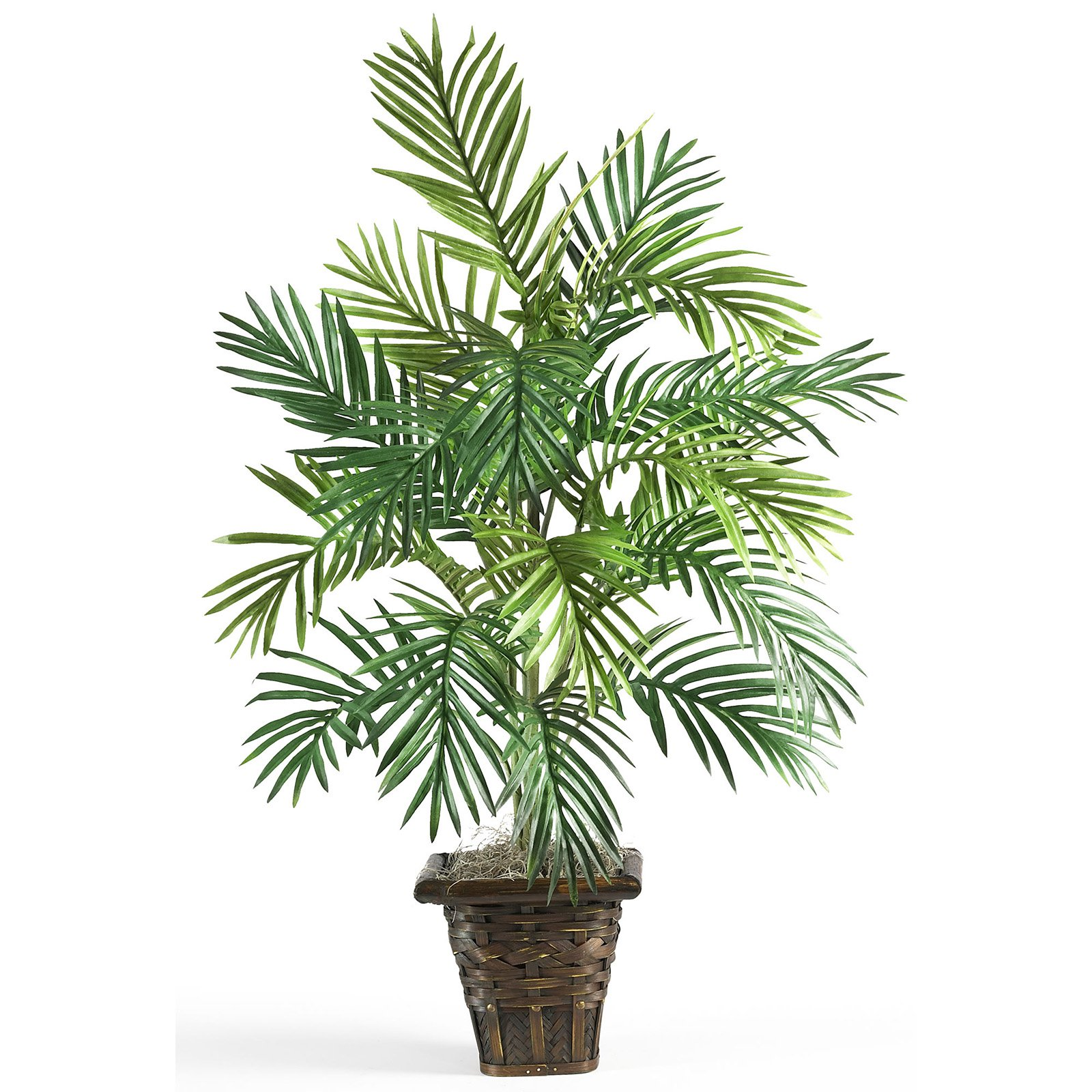 Nearly Natural 38-in. Artificial Areca Palm with Wicker Basket Silk Plant