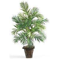 Artificial Areca Palm With Wicker Basket Silk Plant