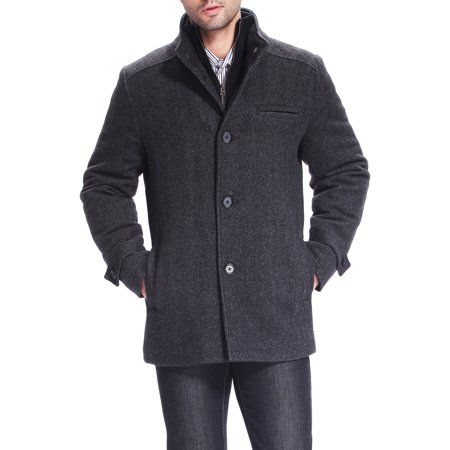 BGSD Mens Samuel Herringbone Wool Blend Bibbed Car