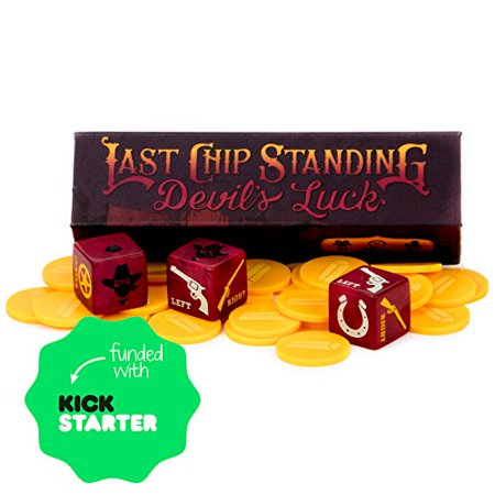 Last Chip Standing: Devil's Luck - Fast, Light & Fun Pocket Family Dice (Best Of Luck Games)
