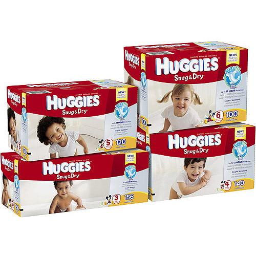 Huggies Snug & Dry Diapers Size 3 / 16-28 lb - 156 CT