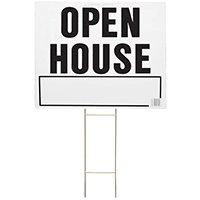 HY-KO LOH-3 Lawn Sign, OPEN HOUSE, Black Legend 5 Pack