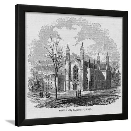 Gore Hall, Cambridge, Mass. Framed Print Wall Art (Gore Hall)