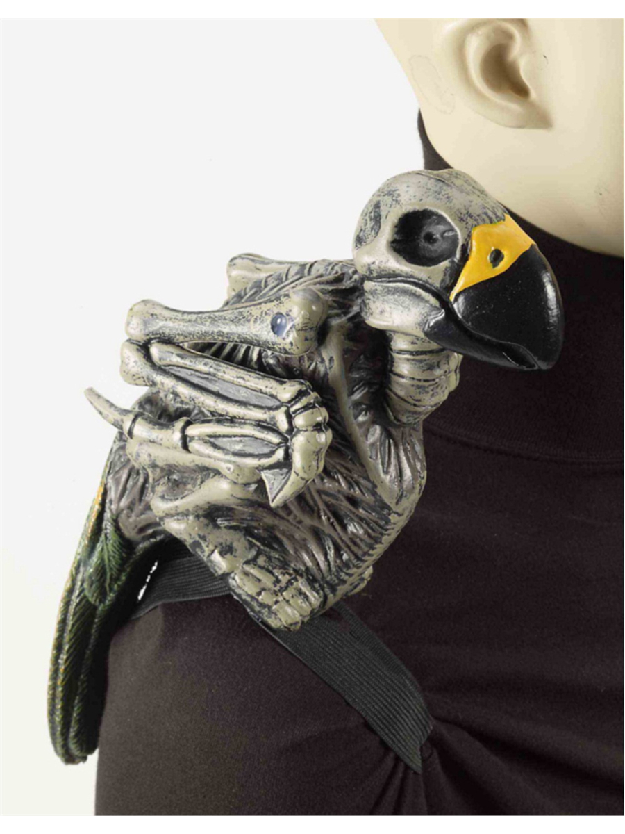 """12"""" Ghost Pirate Costume Accessory Zombie Skeleton Parrot on Shoulder by Forum Novelties"""
