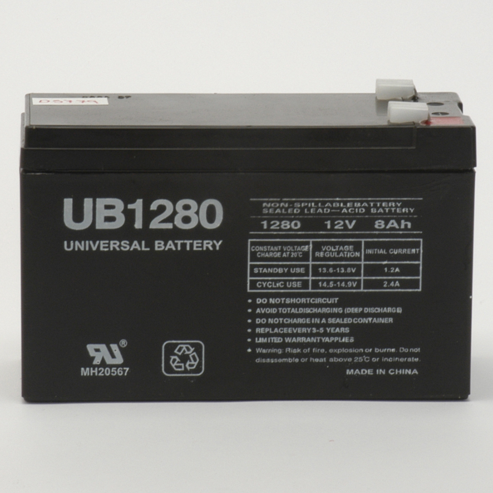 12V 8Ah F2 UPS Battery Replacement for APC BACK-UPS ES BE650G