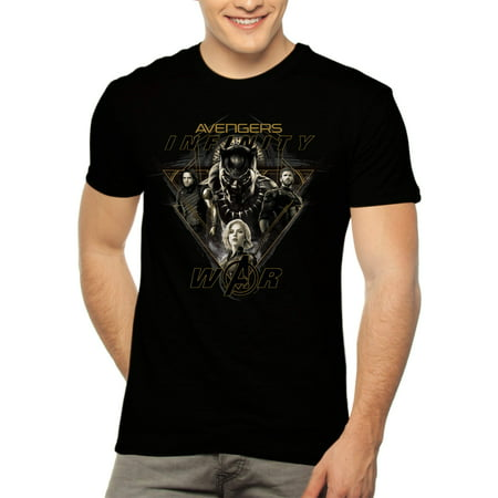 Marvel Avengers Infinity War Men's Graphic T-shirt, up to Size 3XL