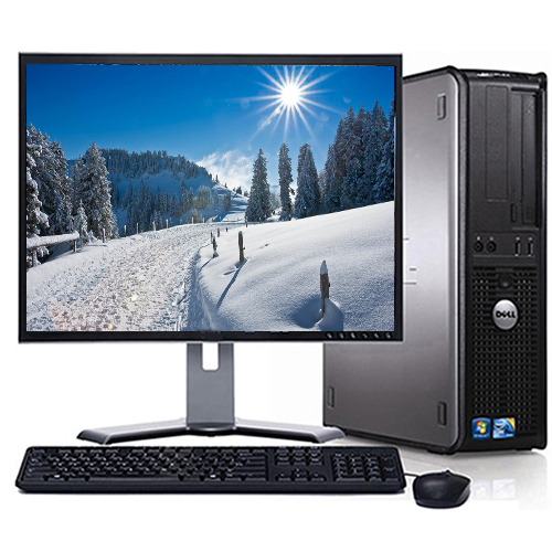 """Refurbished Dell Optiplex Desktop Computer PC  With a Intel Core 2 Duo 2.13GHz Processor 4GB RAM 160GB HD DVD Wifi with a 19"""" Monitor and Windows 10"""
