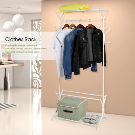 TOPINCN Heavy Duty Standing Clothes Coat Rack With 40Tier Shoes Rack Interesting Standing Coat Rack Walmart