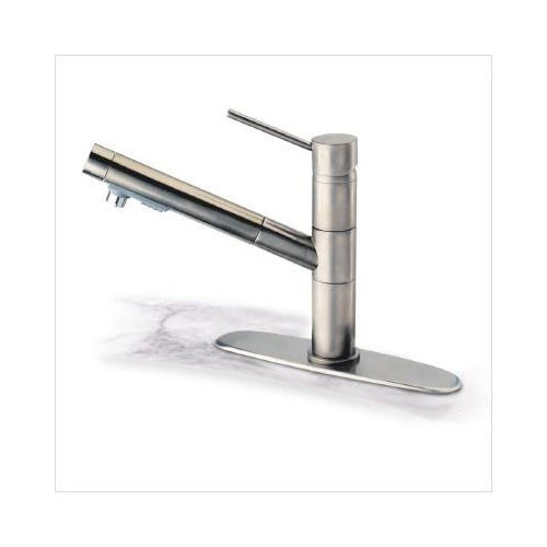 pegasus k 200 hi tech pull out kitchen faucet in brushed