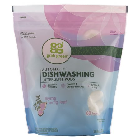 Grab Green Automatic Dishwashing Detergent Pods, Thyme