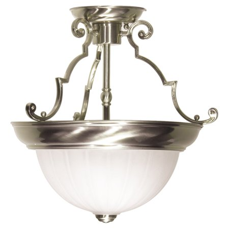Nuvo Lighting  76/433  Ceiling Fixtures  Indoor Lighting  Semi-Flush  ;Brushed (Brass Fixture Loop)