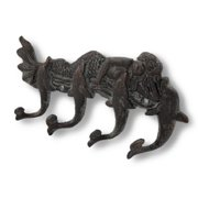 Moby Dick Tropical Mermaid and Dolphins Cast Iron Wall Hooks Pegs