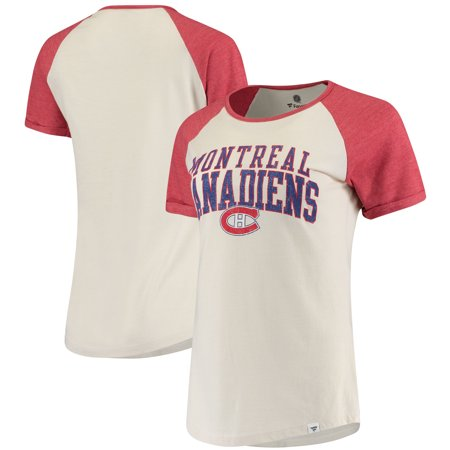 Montreal Canadiens Fanatics Branded Women's True Classics Raglan T-Shirt - Cream - Montreal Canadiens Rink