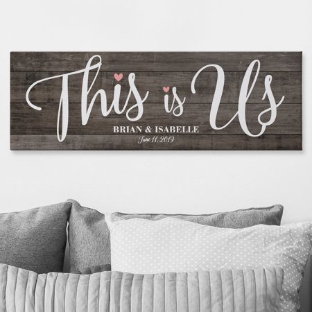 Personalized This is Us Wedding Canvas - Available in 2 Sizes