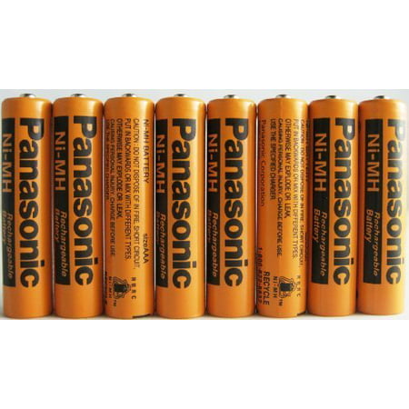 8 Pack Panasonic NiMH AAA Rechargeable Battery for Cordless (Best Rechargeable Battery Pack)
