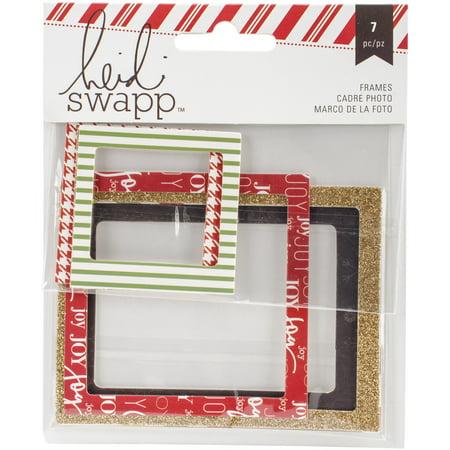 Heidi Swapp Oh What Fun Photo Frames 7/Pkg-Gold Glittered - Walmart.com