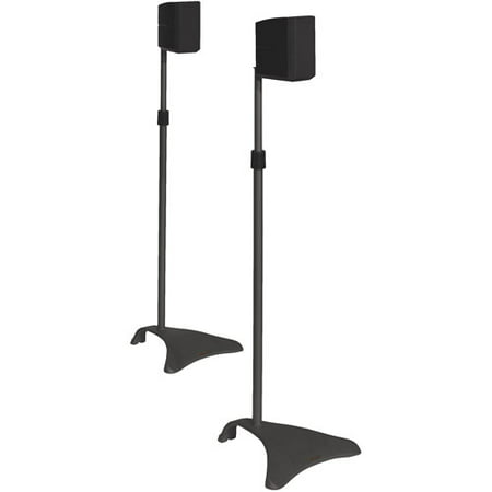 Atlantic Adjustable Satellite Speaker Stand (Set of 2), (Best Knox Speaker Stands)