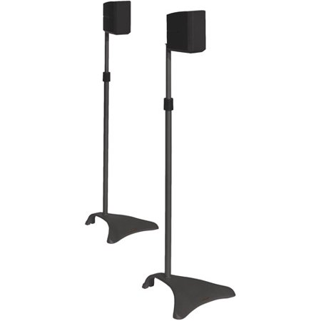 (Atlantic Adjustable Satellite Speaker Stands - Titanium, Pair)