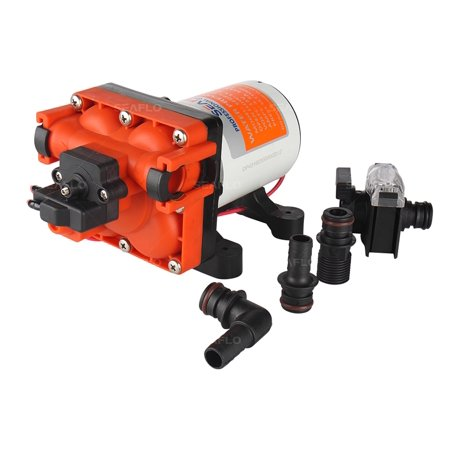 SEAFLO 43-Series Water Pressure Diaphragm Pump - 12V DC, 3.0 GPM, 55 PSI for (Water Pressure Sump Pump)