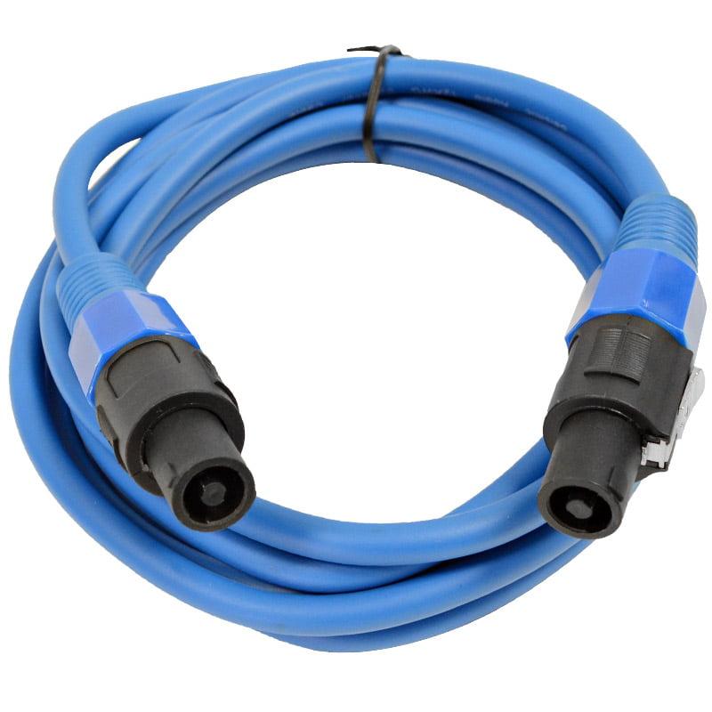 Seismic Audio  12 Gauge 10 Foot Blue Speakon to Speakon Speaker Cable 10' Blue - TW12S10Blue