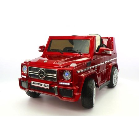 CARZ4KIDS MERCEDES G65 AMG 12V ELECTTRIC KIDS RIDE ON TOY CAR BATTERY POWERED WHEELS PARENTAL REMOTE MP3 PLAYER  | CHERRY RED