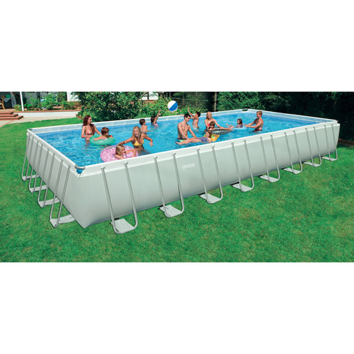 "Intex 32' x 16' x 52"" Rectangular Ultra Frame Swimming Pool by Intex"