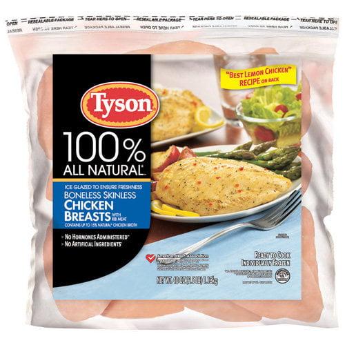 Tyson Boneless Skinless Chicken Breasts, 2.5 lbs