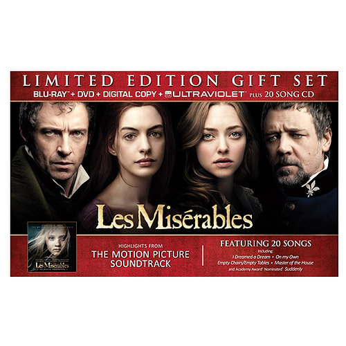 Les Miserables (2012) - Limited Edition Gift Set (Blu-ray + DVD + Digital Copy + UltraViolet + 20 Song CD) (Walmart Exclusive) (Widescreen)