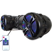 Pyle PLATV85BT.5 - Waterproof Marine Bluetooth Amplified Speakers, Built-in Multi-Color LED Lights, 8'' Speakers, 1000 Watt (For Marine Watercraft, Off-Road Vehicles, ATV, UTV, Golf Cart)