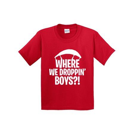 67c28901 New Way - New Way 882 - Youth T-Shirt Where We Droppin' Boys ...