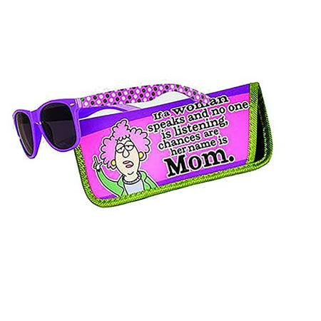 Spoontiques Aunty Acid Mom Sunglasses with Coordinating Soft Sunglass (Momo Sunglasses)
