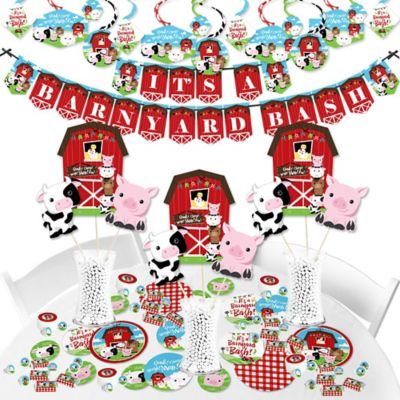 Barnyard Banners - Farm Animals - Barnyard Baby Shower or Birthday Party Supplies - Banner Decoration Kit - Fundle Bundle