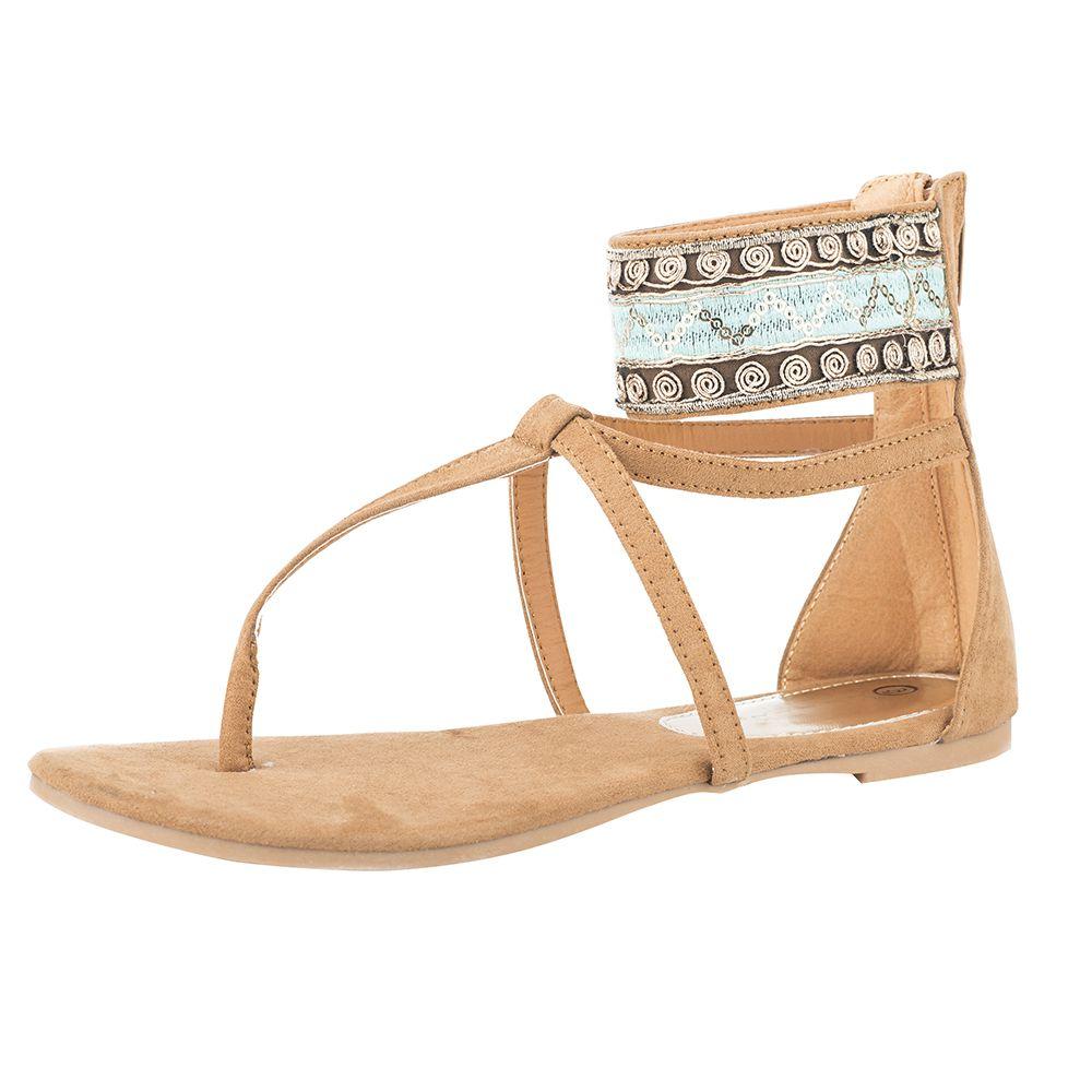 Roper Women's Callie Tan/Turquoise Sandal