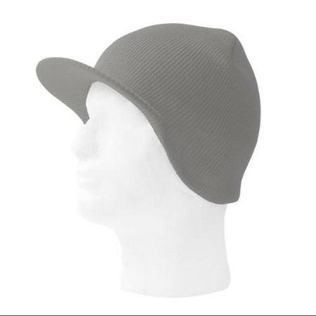 TopHeadwear Cuffless Beanie Cap with Visor Dc Star Visor Beanie