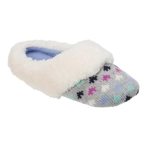 Dearfoams Girls Patterned Knit Slipper