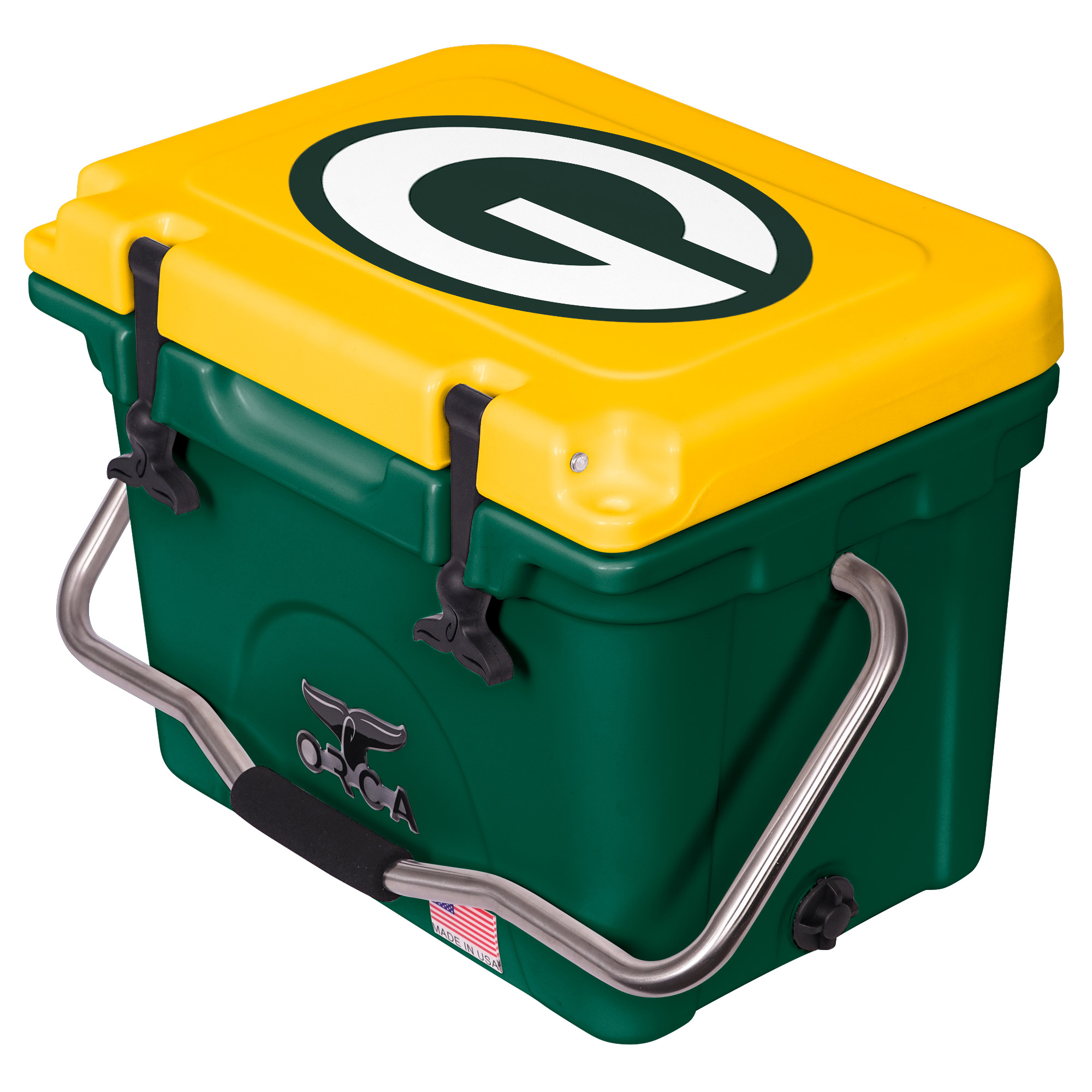 Green Bay Packers ORCA 20-Quart Hard-Sided Cooler - Green/Yellow - No Size
