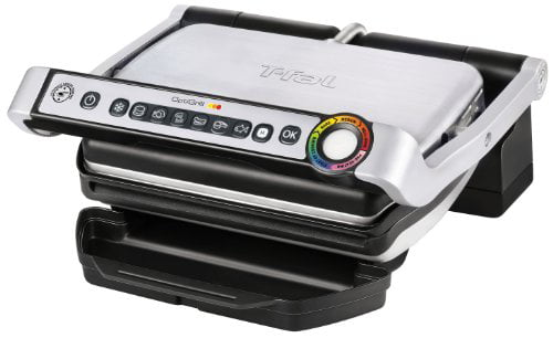 T-Fal GC702 OptiGrill Stainless Steel Indoor Electric Grill with Removable and Dishwasher Safe... by T-FAL