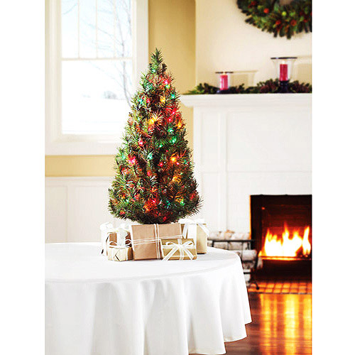 Holiday Time Pre-Lit 3' Winston Pine Artificial Christmas Tree, Multicolor Lights
