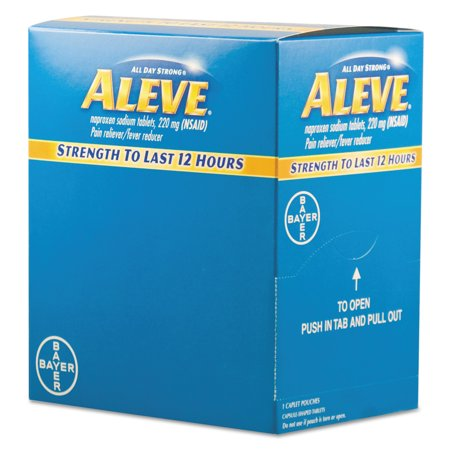 Acme United Corporation Medicine - Aleve Pain Reliever Tablets, 50 Packs/Box
