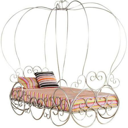 Acme Priya Canopy Twin Bed, Silver ()