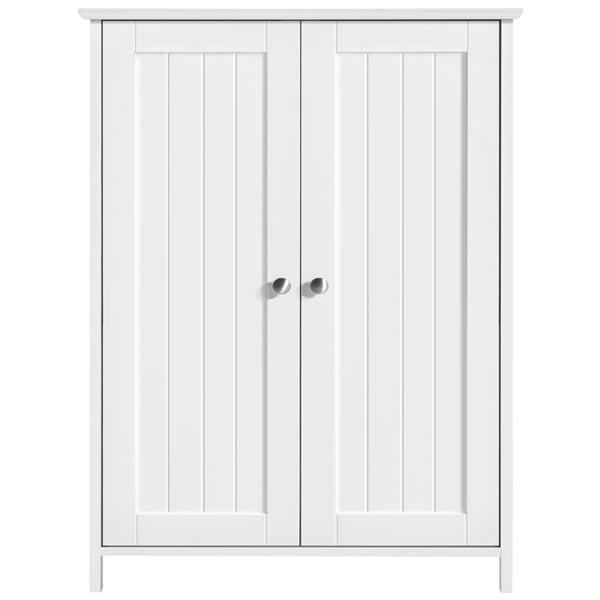 Smilemart 3 Tier Wooden Floor Storage, Bathroom Floor Storage Cabinets