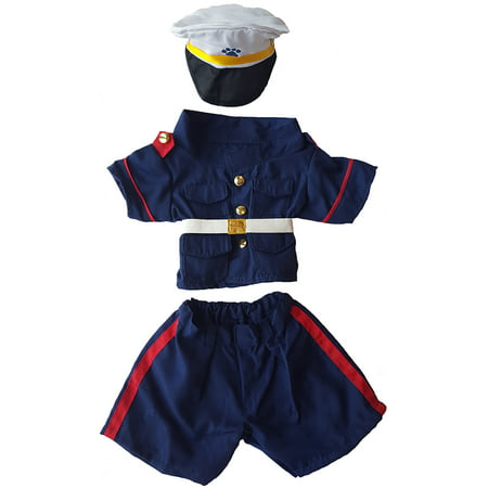Teddy Bear Outfit For Dogs (U.S. Marines Dress Blues Outfit Teddy Bear Clothes Fits Most 14