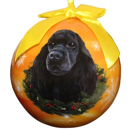 Cocker Spaniel Christmas Ornament Shatter Proof Ball Easy To Personalize A Perfect Gift For Cocker Spaniel Lovers, High quality shatter-proof ornament By ES Pets ()