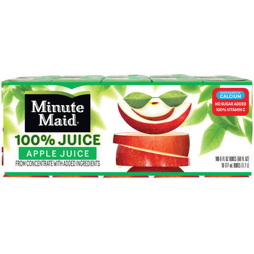 Minute Maid Apple 100% Juice, 6 fl oz, 10 count