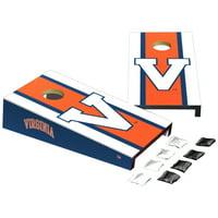 Virginia Cavaliers Stripe Design Desktop Cornhole Game Set