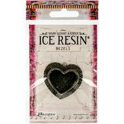 Ice Resin Milan Bezels Closed Back Medium Heart-Antique Bronze