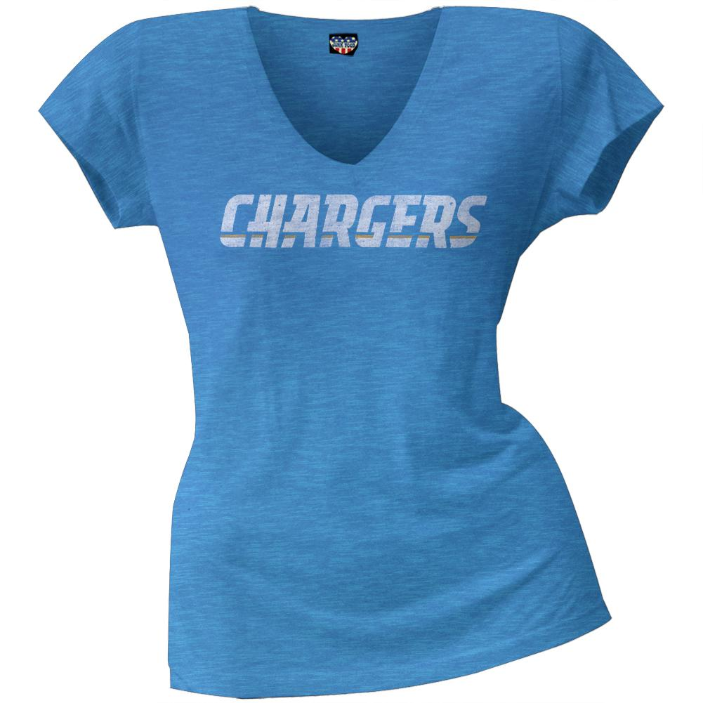 San Diego Chargers - Scrum Logo Juniors Premium V-Neck T-Shirt