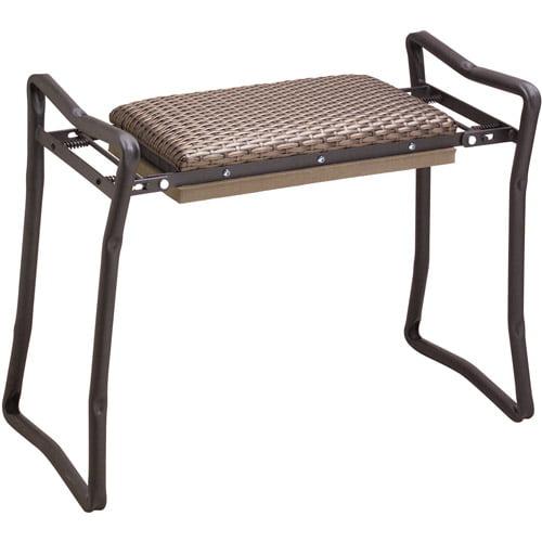 Flexrake CLA103 Steel Wicker Classic Garden Kneeler & Bench