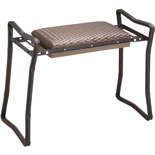 Flexrake CLA103 Steel Wicker Classic Garden Kneeler & Bench
