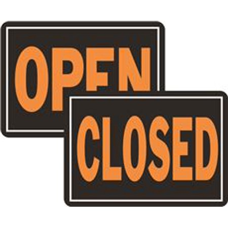 Open/Closed Reversible Sign, 12 Per Pack